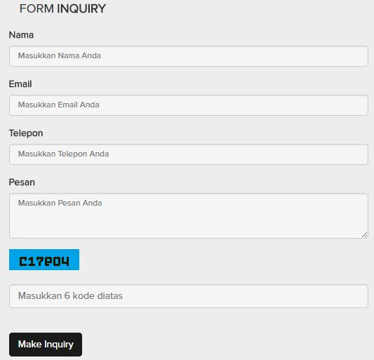 form inquiry